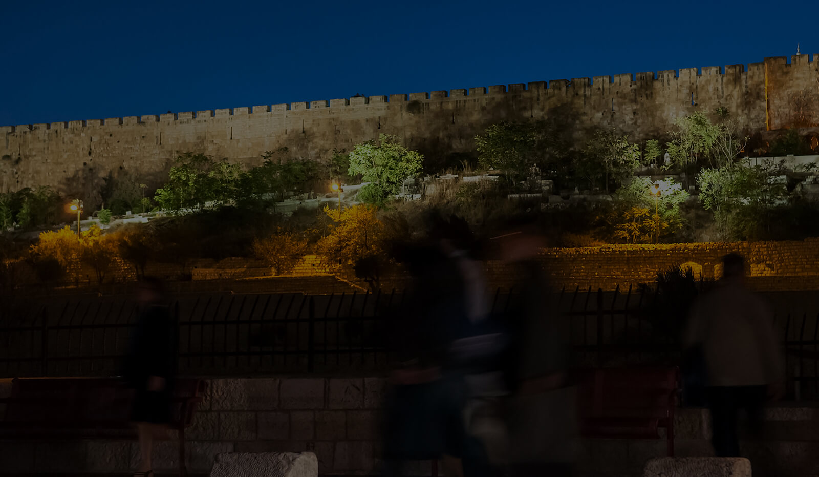 Dark Page Header: Jerusalem City Walls